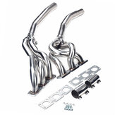Exhaust Muffler Pipe Turbo Header Exhaust Manifold for BMW 3-Series E36 323i 325i 328i M3 92-99 2.8L 3.2L
