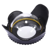 PULUZ PU8001 Optical Fisheye Lens Shade Wide Angle Dome Port Lens for Underwater Housings