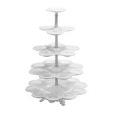 5 Tiers Cupcake Stand Afternoon Tea Wedding Plates Party Tableware Bakeware Tray Display Rack Cake Decorating Tools