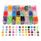 360 Set/Lot 24 Color T5 Resin Snap Plastic Buttons Installation Tools Sihetun Buckle