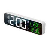 USB LED 3D-musik Dual Alarm Clock Termometer Temperatur Dato HD LED-skærm Elektronisk skrivebord Digital bordure