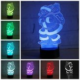 3D LED Colorful Jul Julemanden Touch Control Lamp Indretning Gave Night Light
