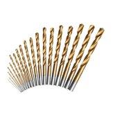 19 piezas 1-10 mm HSS Twist Taladro Juego de brocas Vástago recto Twist Taladro Bit