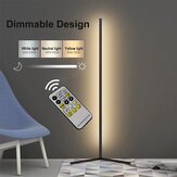 1.1/1.4/1.6M LED Dimmable Corner Floor Lamp with Remote Multicolor White Housing
