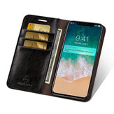 Musubo Business Multifunctional PU Leather with Card Slots Full Body Shockproof Flip Protective Case for iPhone X / XS / XR / XS Max / 7 / 8 / 7 Plus / 8 Plus / 6 / 6S / 6 Plus / 6S Plus