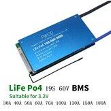 19S 60V LiFe Po4-batterij 3.2V Power Protection Board 30A-180A met temperatuurbeveiliging Egalisatiefunctie Overstroombeveiliging BMS-batterijbeschermingskaart