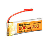 ZOP Power 3.7V 600mAh 20C Wtyczka JST do baterii Lipo