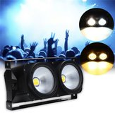 200W DMX COB Par LED Stage Light White/Warm White Audience Disco Lights AC90V-245V