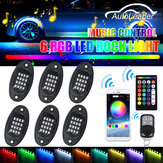 6Pcs RGB 5050 96 LED Auto Rock Light Unterbodenlicht Bluetooth App + Fernbedienung