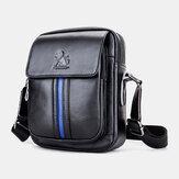 Men Genuine Leather Retro Business Fashion Leather Cowhide Shoulder Bag Crossbody Bag
