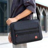 Men Waterproof Wear-resistance Large Capacity Business 15.6 Inch Laptop Bag Briefcase Crossbody Bag