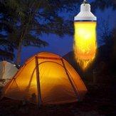 7W USB Akumulatorowy efekt płomienia 108 LED Blub Namiot Lekka lampa awaryjna dla Outdoor Camping Hiking
