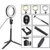 bluetooth Tripod Selfie Stick With LED Ring Fill Light with Stand Lighting Kit for Phone Camera