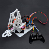 SNAM5100 DIY  4DOF Acrylic RC Robot Arm PS2 Stick Control With MG90S Servos