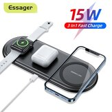 Essager 3 in 1 15W Qi iPhone 12 11 Pro for Apple Watch for Airpods for Samsung Galaxy S21 Note S20 ultra Huawei Mate40 P50 OnePlus 9 Pro