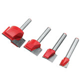 4pcs 10/15/22/30mm Router Bit Surface Planing Bottom Cleaning Wood Milling CNC Router Bit