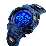 SKMEI 1548 Military Camouflage Children Wristband 12/24 Hours Mode EL Luminous Display Stopwatch Alarm 5ATM Waterproof Kids Digital Watch