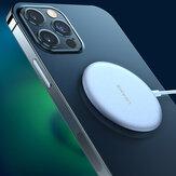 USAMS 15W chargeur sans fil magnétique Ultra mince chargeur de charge rapide pour iPhone 12 Mini 12 Pro Max Huawei P40 Mate 40 Pro