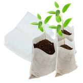 100 pcs Sacos de Levantamento de Mudas de Tecido Não-tecido Vasos Biodegradáveis de Berçário Saco de Linha Saco de Plantador Em Casa suprimentos