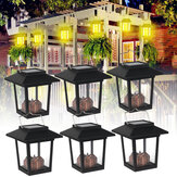 6PCS Solar Powered LED Laterne Hängelicht Candle Garden Halloween Lampe IP65 Outdoor Decor