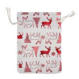 50 unidades, 6 estilos, sacolas para presentes, natal, doces, bolsas com cordão