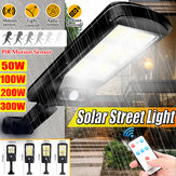 Solar Powered LED COB Street Light PIR Motion Sensor Outdoor Garden Wall Lamp+Remote Control