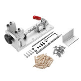 Woodworking Pocket Hole Jig System Guide Carpenter Kit with Clamp and Hole Drill Bits