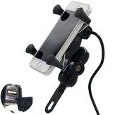 12V-30V 3.5-6 pollici Motore Telefono GPS Supporto X-Style USB caricabatteria Outlet presa di corrente