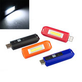 Mini 0.5W USB Rechargeable COB LED Keychain Light Flashlight Pocket Torch