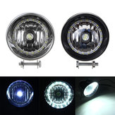 Black / Chrome LED Motorcycle Bullet Headlights High/Low Beam Head Light Lamp