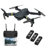 JP Version Eachine E58 WIFI FPV With 720P HD Wide Angle Camera High Hold Mode Foldable RC Drone Quadcopter RTF Three Batteries