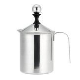 304 Stainless Steel Manual Milk Frother Double Mesh Milk Creamer Milk Foam Mesh Coffee Foamer Creamer for Coffee Shop