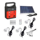Emergenza 7500mAh LED MP3 FM solare Pannello Power Lighting Sistema di ricarica