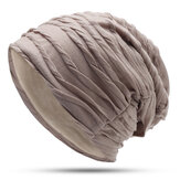 Men Women Earmuffs Beanie Cap Outdoor Slouchy Skullcap