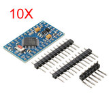 10Pcs Pro Mini ATMEGA328P Module 3.3V 8M Interactive PCB Board Geekcreit for Arduino - products that work with official Arduino boards