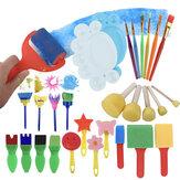 Desenho Engraçado Brinquedos Criativos DIY Graffiti Art Supplies Escovas Ferramenta para Pintura de Selos Pintura de Estamparia de Borracha Montessori Escovas