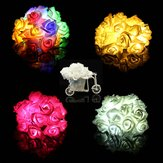 20 LED Rose Flower String Lights Fairy Wedding Party Christmas Decoration