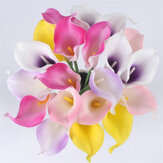 Natural Real Touch Flower Bouquet Calla Lily Wedding Decoration Fake Flower For Home Party Festival Decor 8 Colors Artificial Flowers