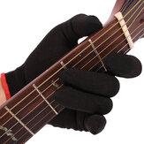 Punta del dedo Anti-dolor Guante de guitarra de mano izquierda Guante bajo Práctica Guante de dedos Para músicos principiantes profesionales