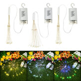 Hanging LED Firework Fairy String Light 8Modes Remote Home Party Wedding Decor