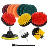 16 Adet / takım Matkap Scrubber Temizleme Fırça Kit Banyo Yüzeyler için Küvet Karo ve Harç