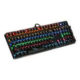 MantisTek® GK1 interrupteur bleu 104 touches rétro-éclairé mécanique clavier de jeu nkro 4 modes d'éclairage