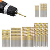 60pcs 1/1.5/2/2.5/3/3.5mm HSS Titanium Coated Twist Drill Bit Set Tools