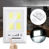 36 LED COB Wireless Night ضوء 5 Gear Dimming Under ضوء Wardrobe Porch Kitchen