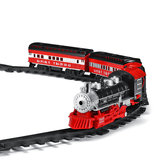 Smoke Light Simulation Sound Effect Classical Steam Train Assembled Electric Rail Car Track Toys