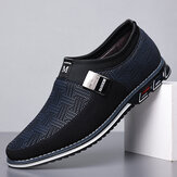 Men Breathable Non Slip Comfy Soft Bottom Slip On Casual Business Loafers Shoes