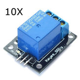 10Pcs 5V Relay Module 5-12V TTL Signal 1 Channel High Level Expansion Board Geekcreit for Arduino - products that work with official Arduino boards