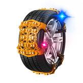 [Wersja ulepszona] BIKIGHT 6 sztuk grubsze TPU samochodowe łańcuchy śnieżne uniwersalne łańcuchy bezpieczeństwa do opon samochodowych antypoślizgowe błoto śnieżne ziemia wspinaczka na zewnątrz