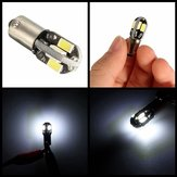 2pcs 12V Ba9s 2W 100LM 6000K T4W White 6 SMD LED Dashboard License Wide Light Lamp Motorcycle Car