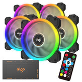 Aigo DR12 120mm RGB PC Case Cooling Fan LED Adjustable Color Quiet Remote Control Computer CPU Cooler Radiator 2019 Version